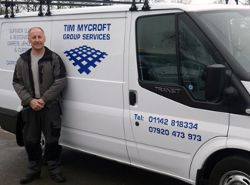 Tim Mycroft with his van